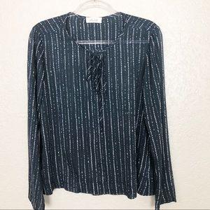 EUC Bella Dahl Printed Tencel peasant blouse